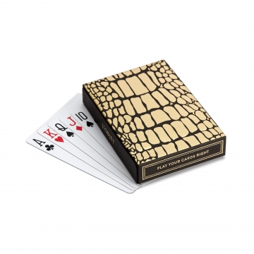 Crocodile Box with Playing Cards (Two Decks)